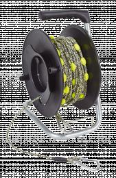 Matériel d'exploration Touret pour ligne guide simple - plastique noir - max 60 m