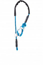 Longes Longes réglables Equa R - 1 Mousqueton Tango Bleu - 1 boucle cossée